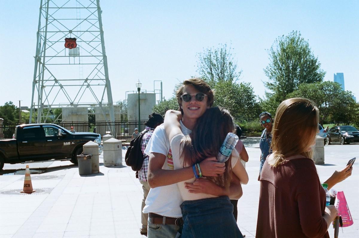 Payton and Sanjay hugging